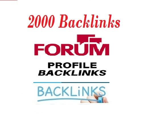 2000+ Forum Profile Backlinks for your websites