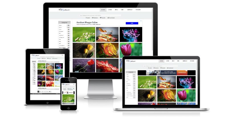 Wallpaper WordPress theme Jahangir for Photo Blogging