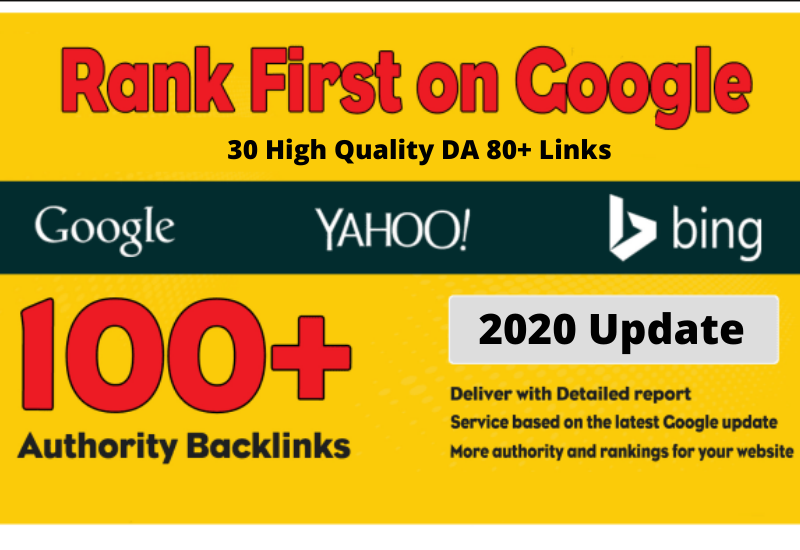 30 High Quality DA 80+ Links,  Boost Google Ranking