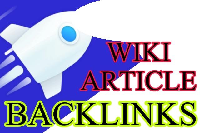 60 WIki Articles Contextual Backlinks
