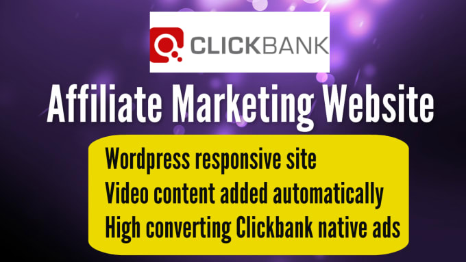 Create Clickbank Affiliate Website For Passive Profits