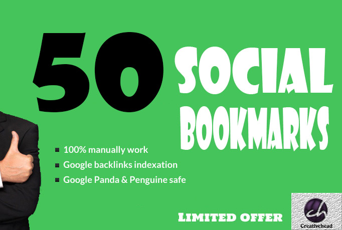 will Bookmark your site to 50 unique Social Bookmarking sites only