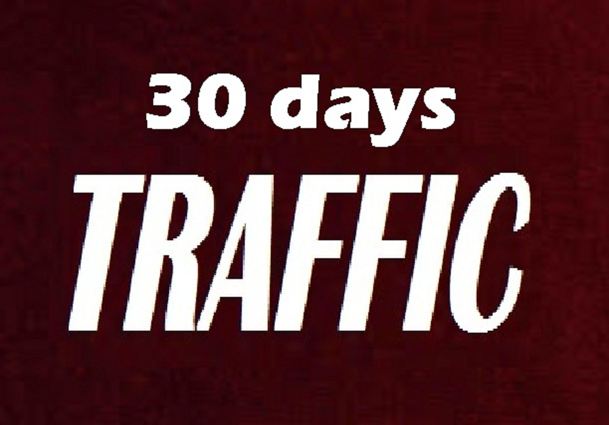 30 days real organic human traffic to website store Blog SHOP with extras and rank higher on Google.