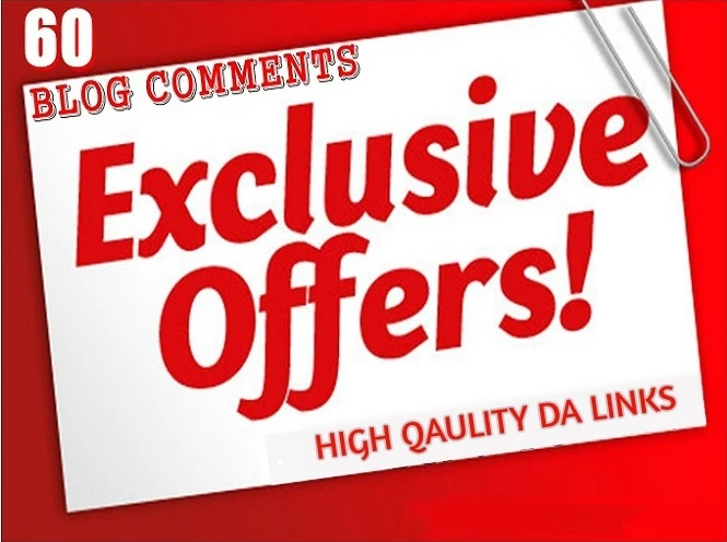 60 exclusive high quality domain authority seo dofollow blog comments