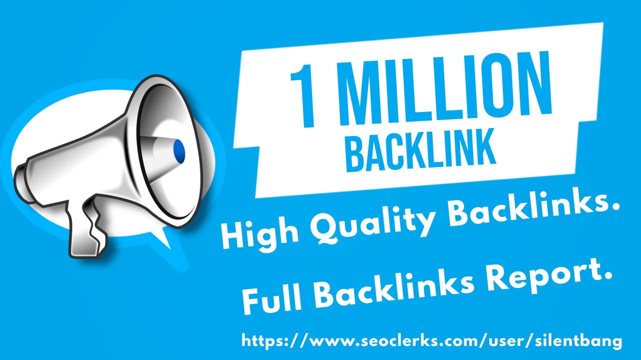 1 Million SEO Google Panda Safe Backlinks Bookmark For Ranking Website Traffic On Google 1st Page