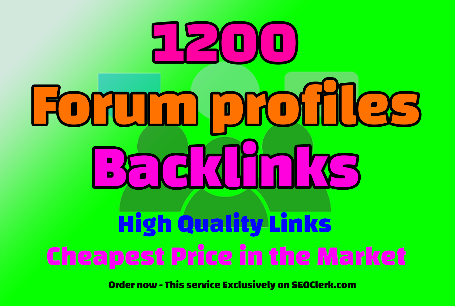 1200 quality forum profiles backlinks - Free Indexing