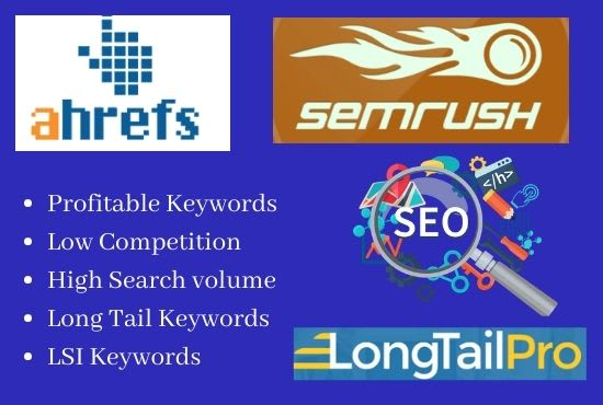 Top 10 Highly Effective Keywords in your Niche with report and competition level.