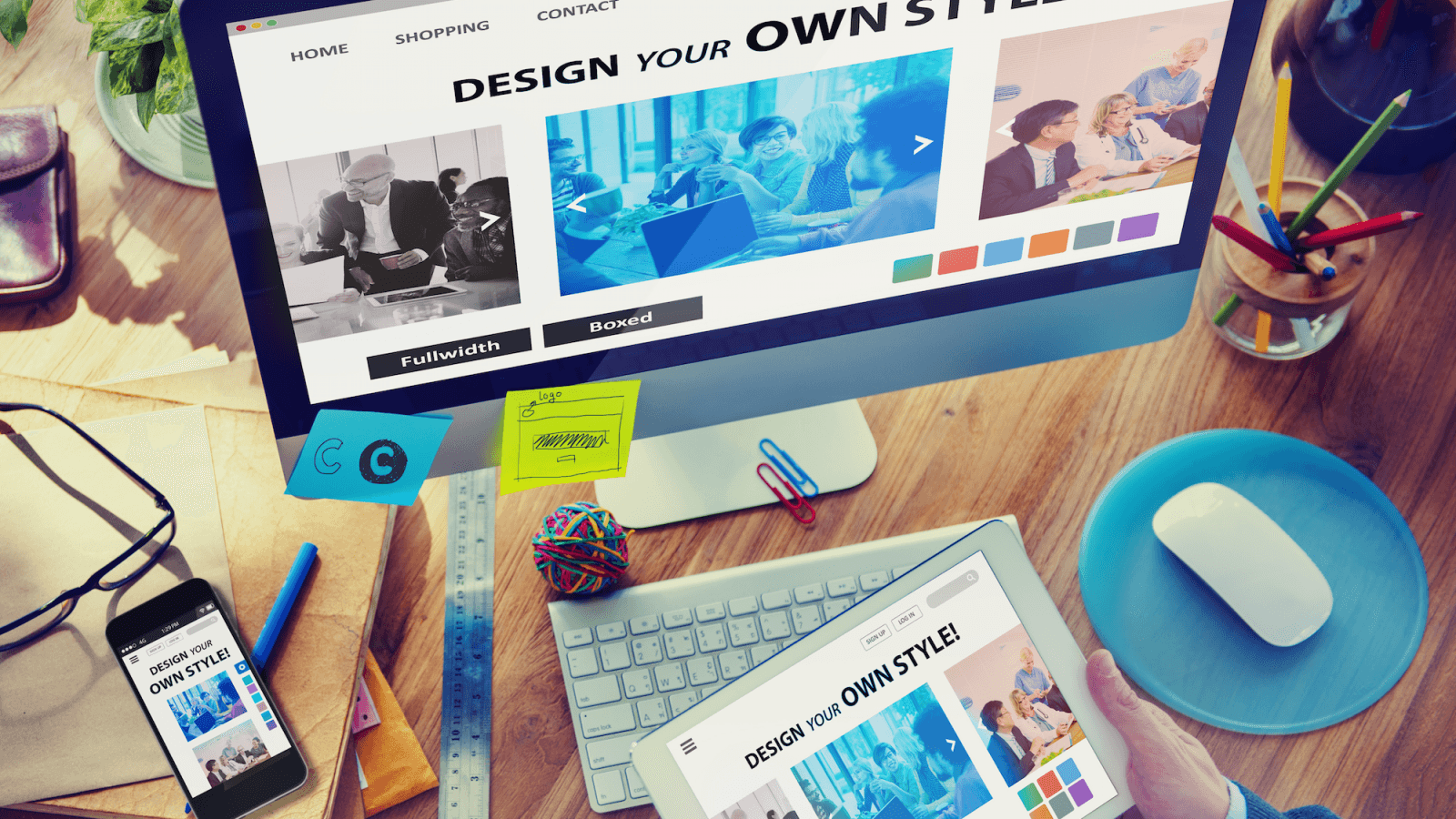 Design a fully featured Responsive website