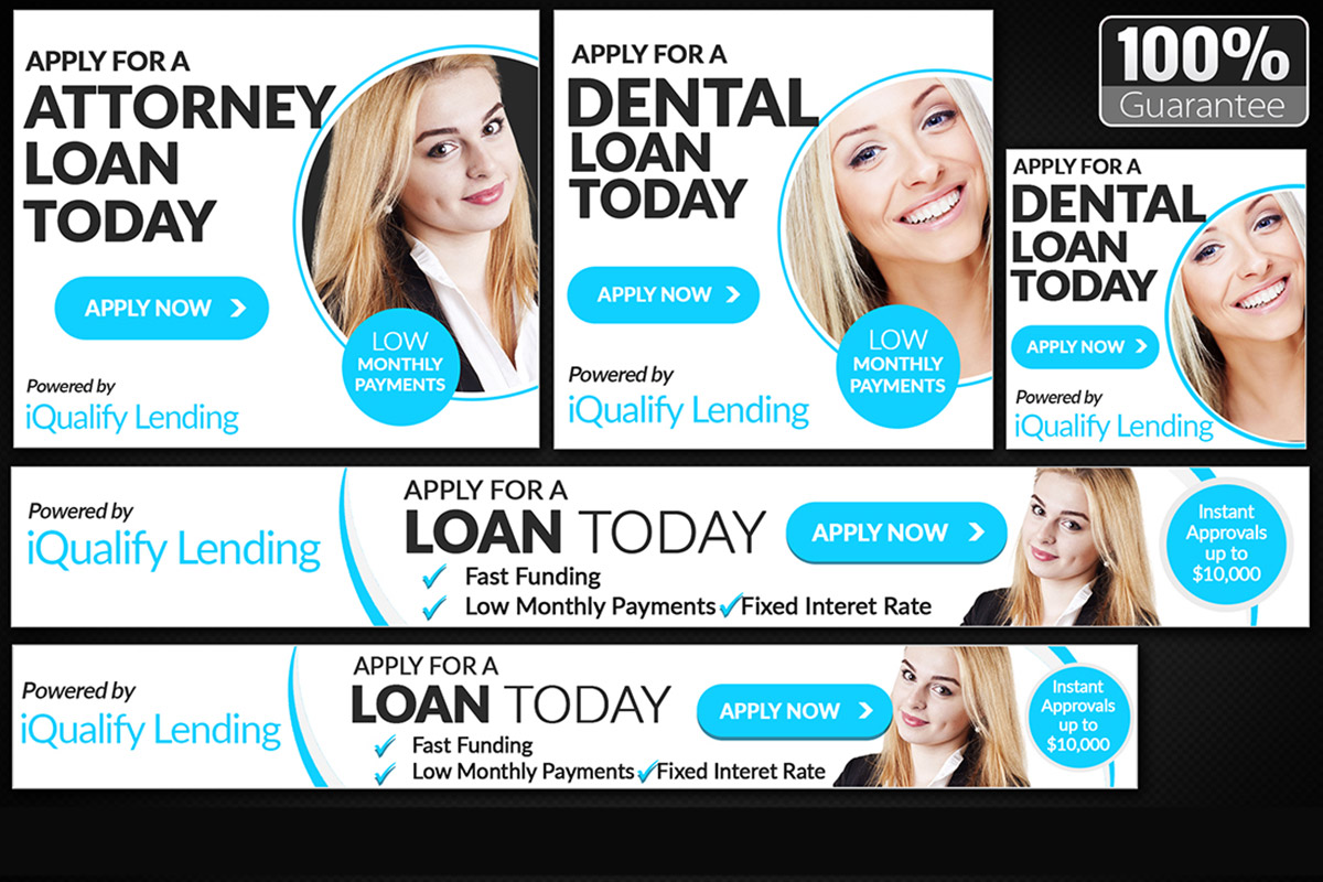Create web banners or banner ads for advertising