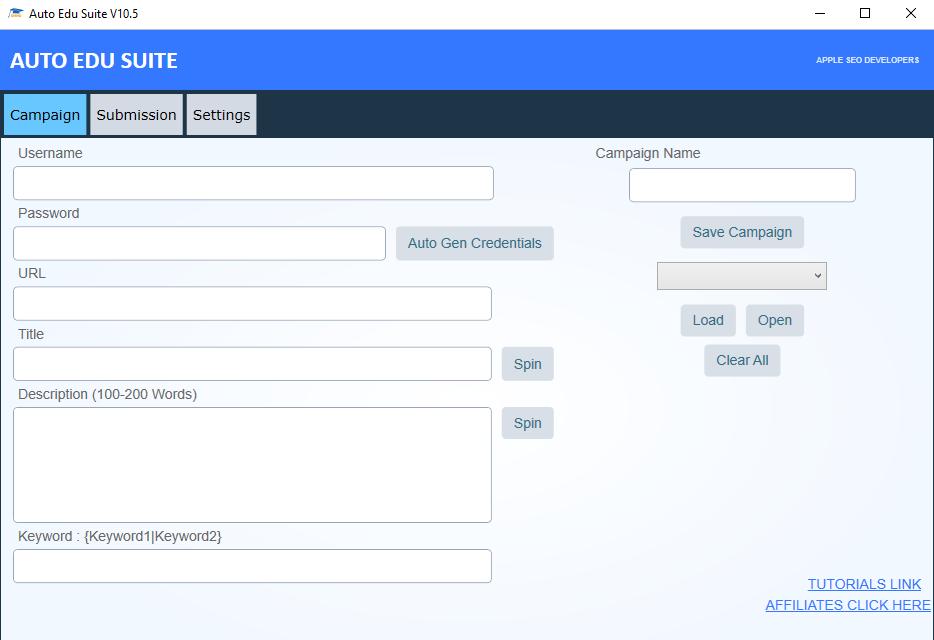 Give You Auto Edu Suite - Edu Backlink Software