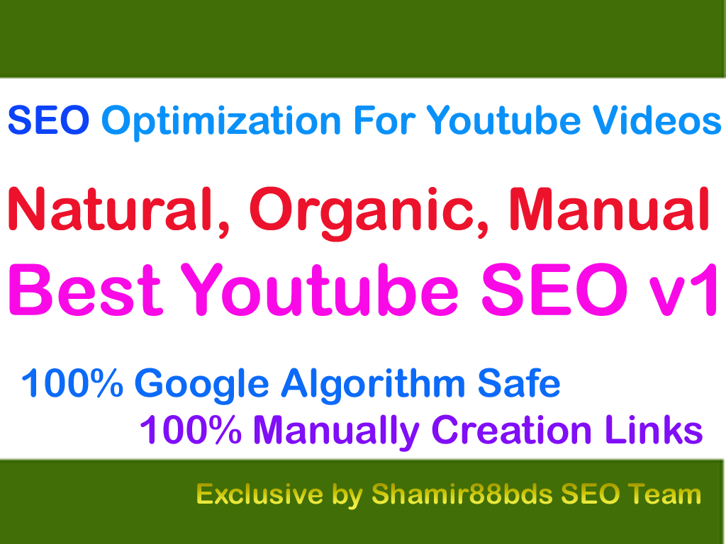 Best Youtube SEO v1 SEO Optimization For Youtube Videos