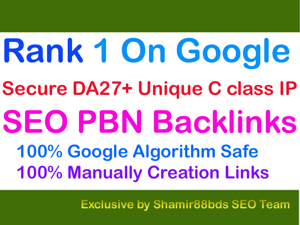 Secure 6 SEO PBN Backlinks DA27+ to Rank 1 On Google