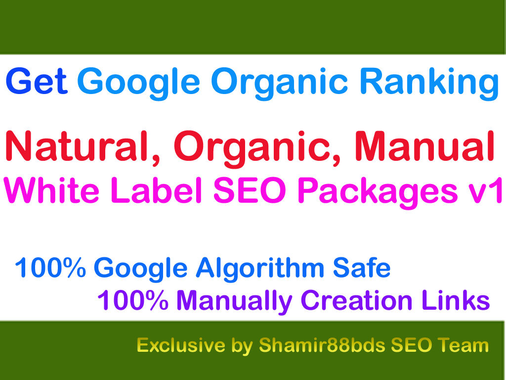 White Label SEO Packages v1 Google Organic Ranking