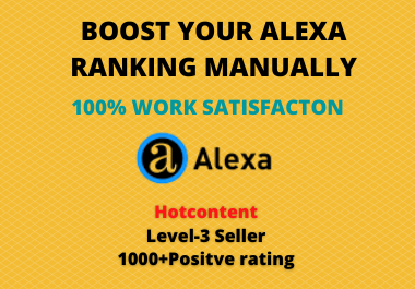 I will Enter website to Top 75 Alexa Ranking Sites Manually