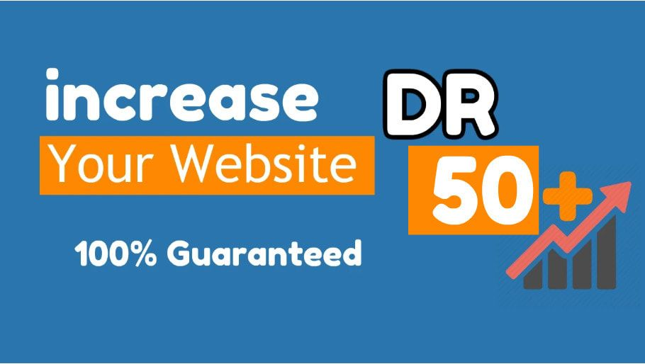 I will create SEO backlinks to increase domain rating DR for ahrefs