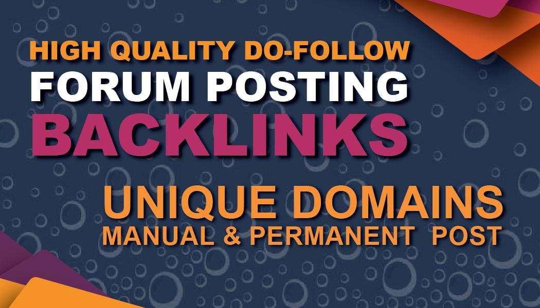 i can do unique forum posting dofollow SEO backlinks