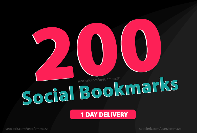 add 200 social bookmarking backlinks rank up your website