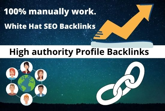 I will do manually 50 Profile Backlinks for your Website