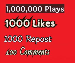 Buy high retention Audio Music 1,000,000 Play(1 Million) 1000 LlKES,1000 REP0ST AND 100 C0mments