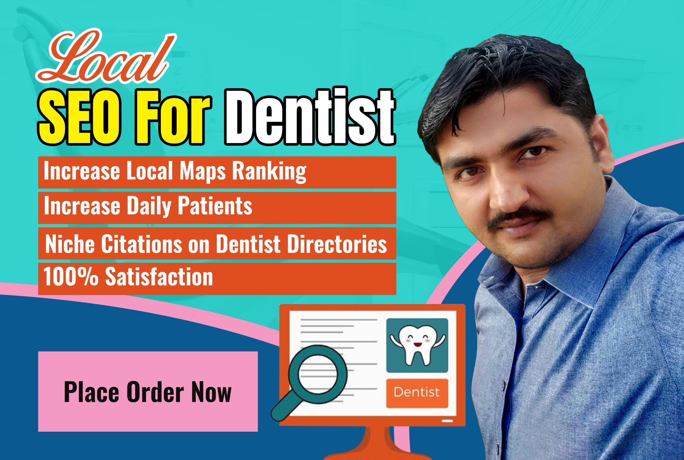 I will create 25 niche citations for dentist practice SEO