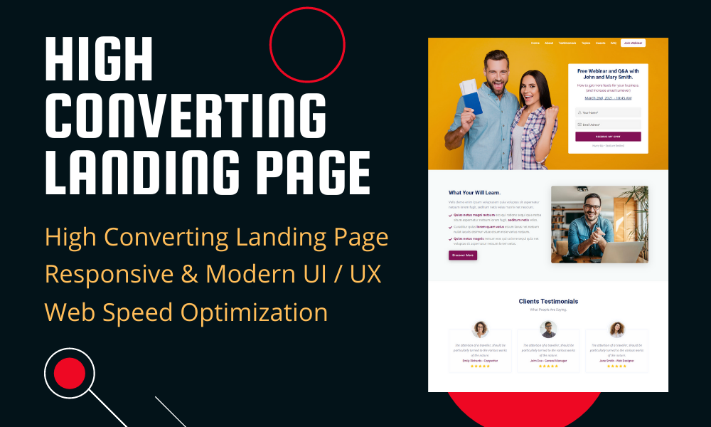 CREATE HIGH CONVERTING RESPONSIVE LANDING PAGE