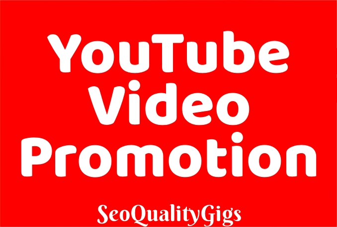 Provide Instant Organic & High Quality You-Tube Video PROMOTION Marketing to Rank Your Video