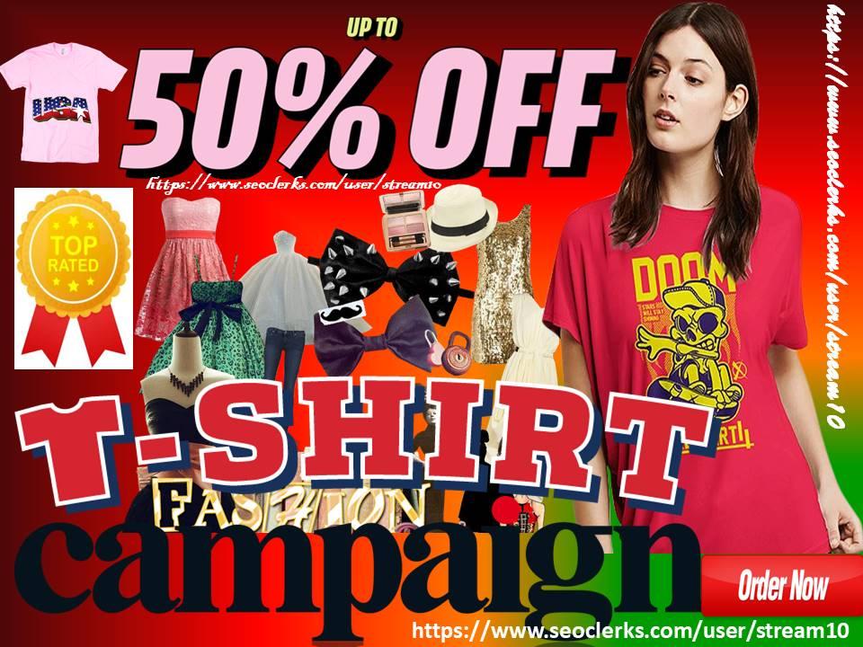 advertise t-shirt store, t shirt clothing brand, female fashion blog, gym, yoga apparel design traffic
