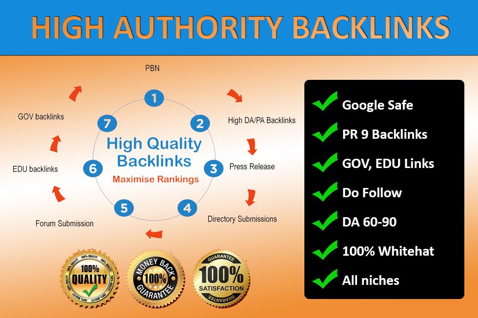 80 High Authority Backlinks DA 60+ Premium Indexing