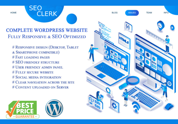 I will build a complete responsive website design for you