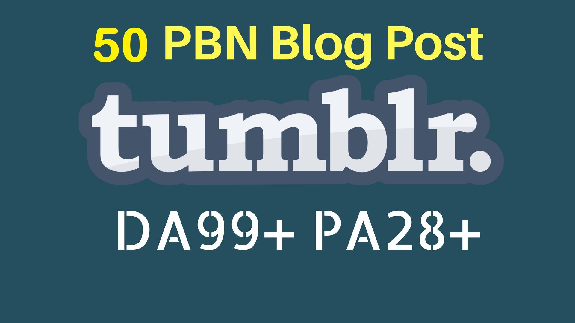 Buy 5 Get 1 FREE PBN 50 High DA98+ PA 28+ Tumblr Backlinks
