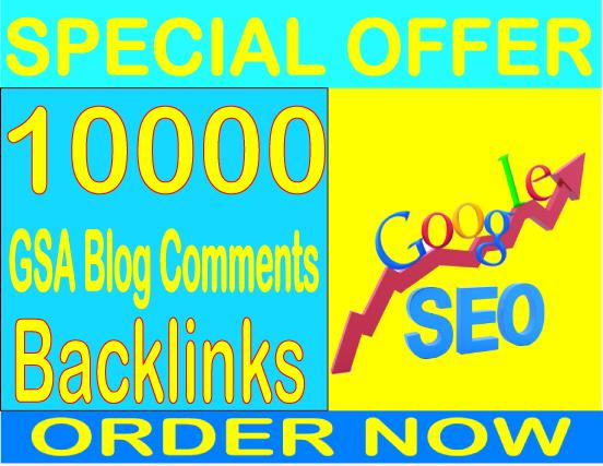 Get 10000 GSA SER Blog Comments Backlinks Boost your alexa