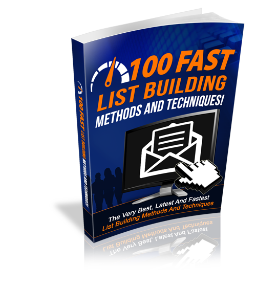 PLR 100 Fast List Building Methods And Techniques