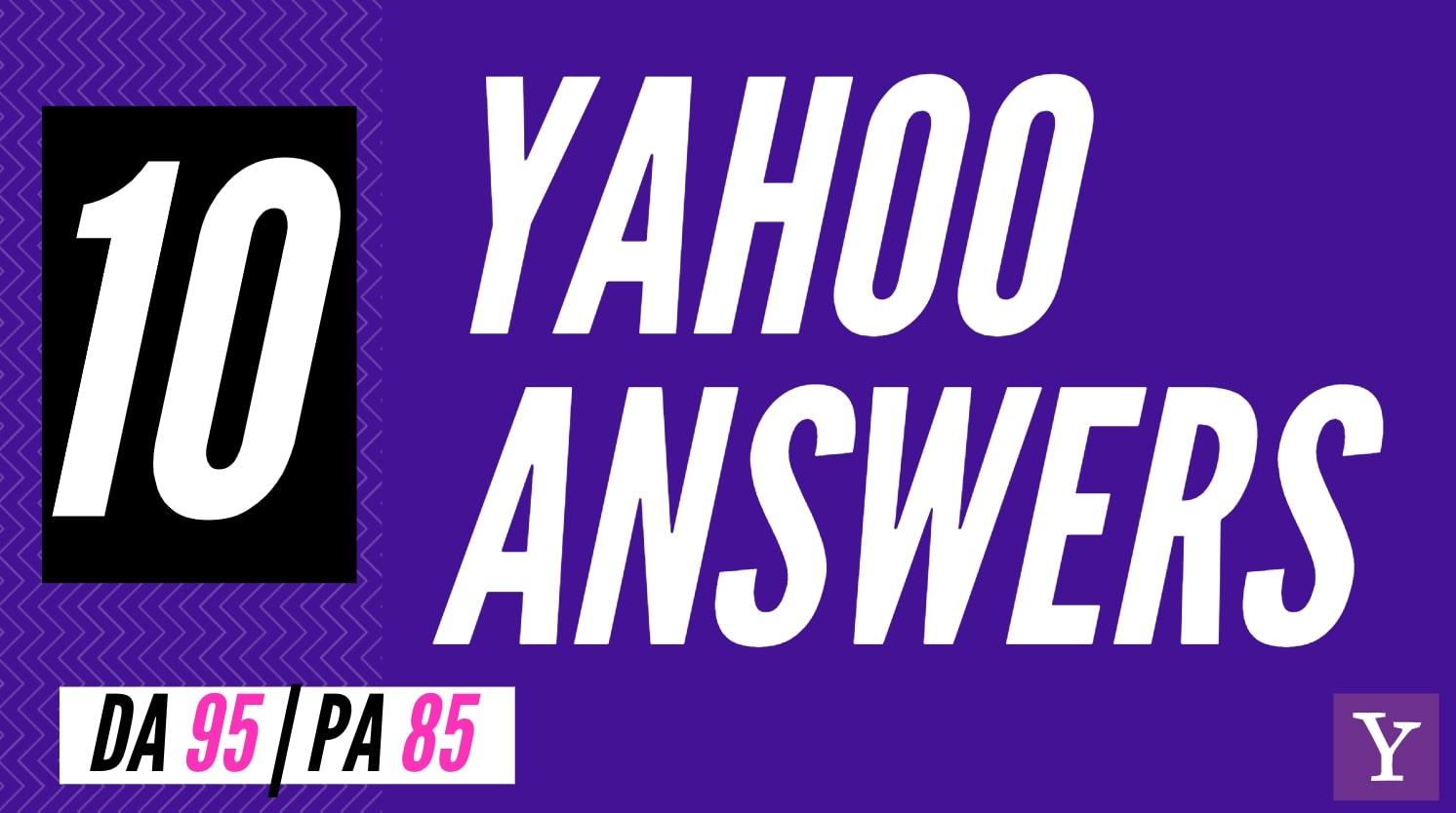 Yahoo Answers Backlinks - Clickable Links