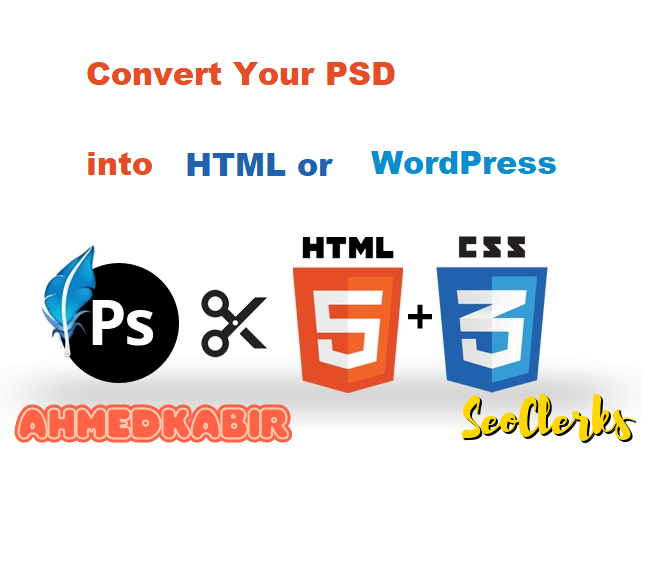 Convert a psd into html template or a wordpress theme