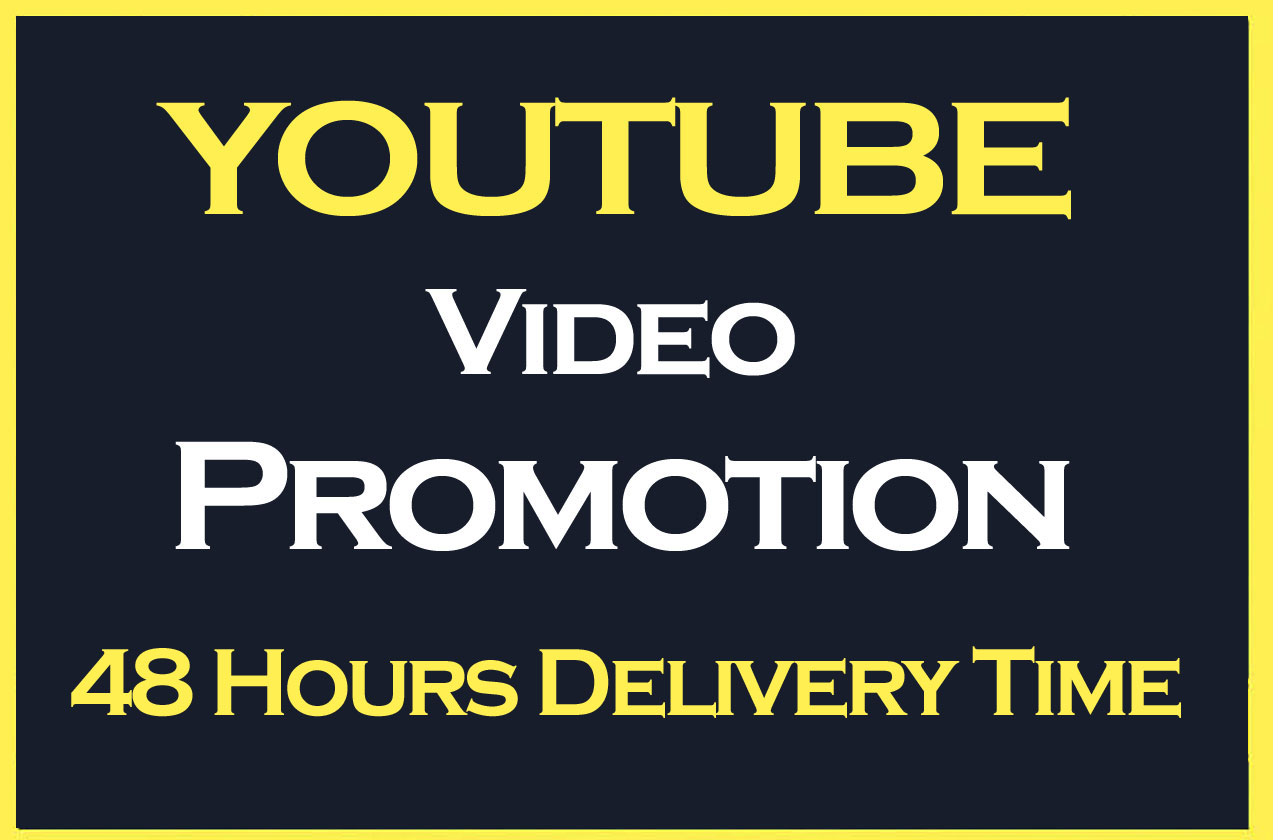 YouTube Video Promotion And Social Media Marketing with fast delivery