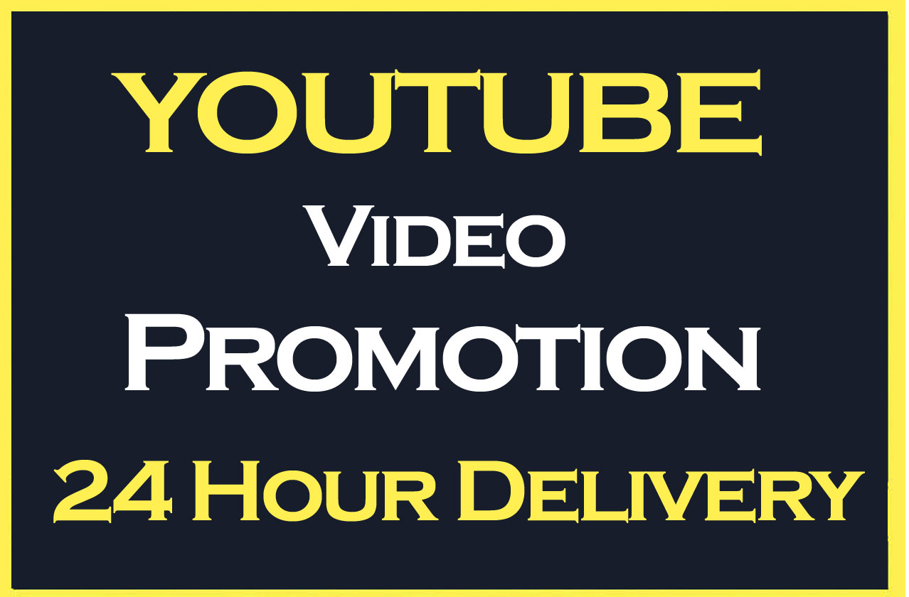 HQ YouTube Video Promotion and Marketing in 12 Hours