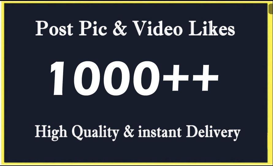Instant 1000 High Quality Social Post Pictures video Promotion and Marketing