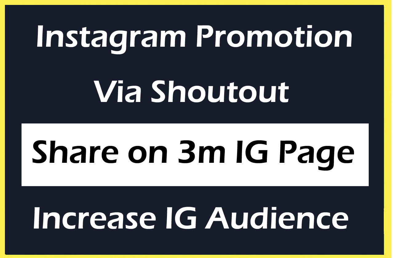 Instagram Promotion on 3M Page & Do 1000 Profile Followers