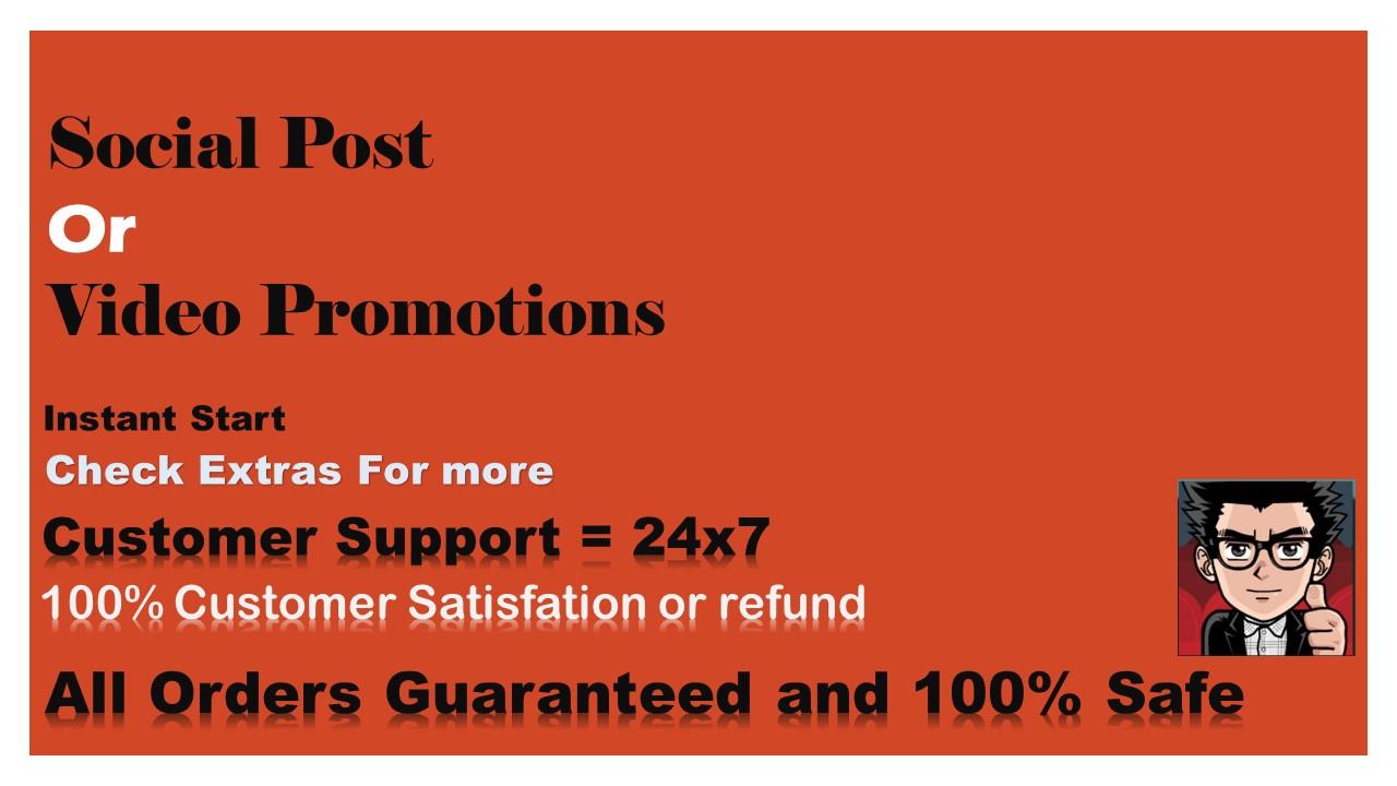 Social Post Or Video Post Promotion Social Media Marketing