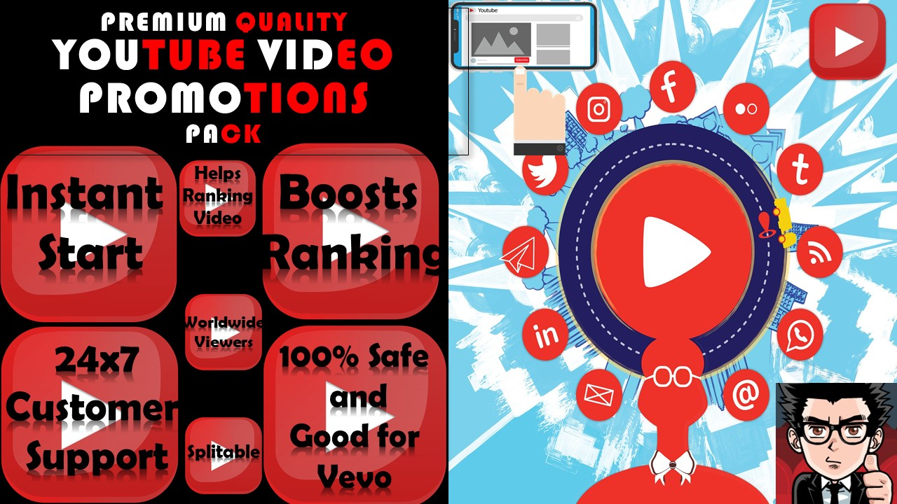 Premium YouTube Video Booster Promotions 5k Youtube Marketing Service