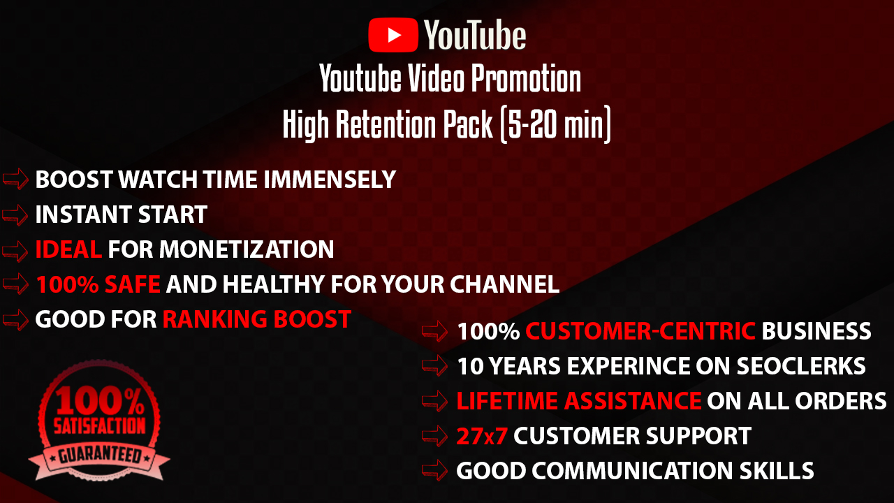 YouTube Video Promotion High Retention Pack
