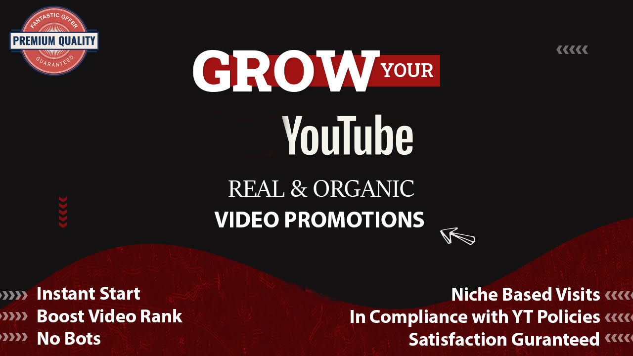 Real YouTube Promotion PROMOTIONAL OFFER CHEAPEST 1-6 hr delivery