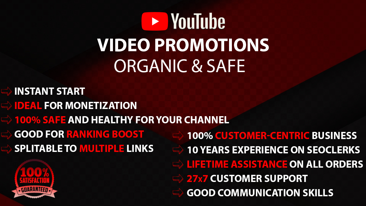 YouTube Video Promotions 5k-6k+ Thumbs Free Youtube Marketing Service