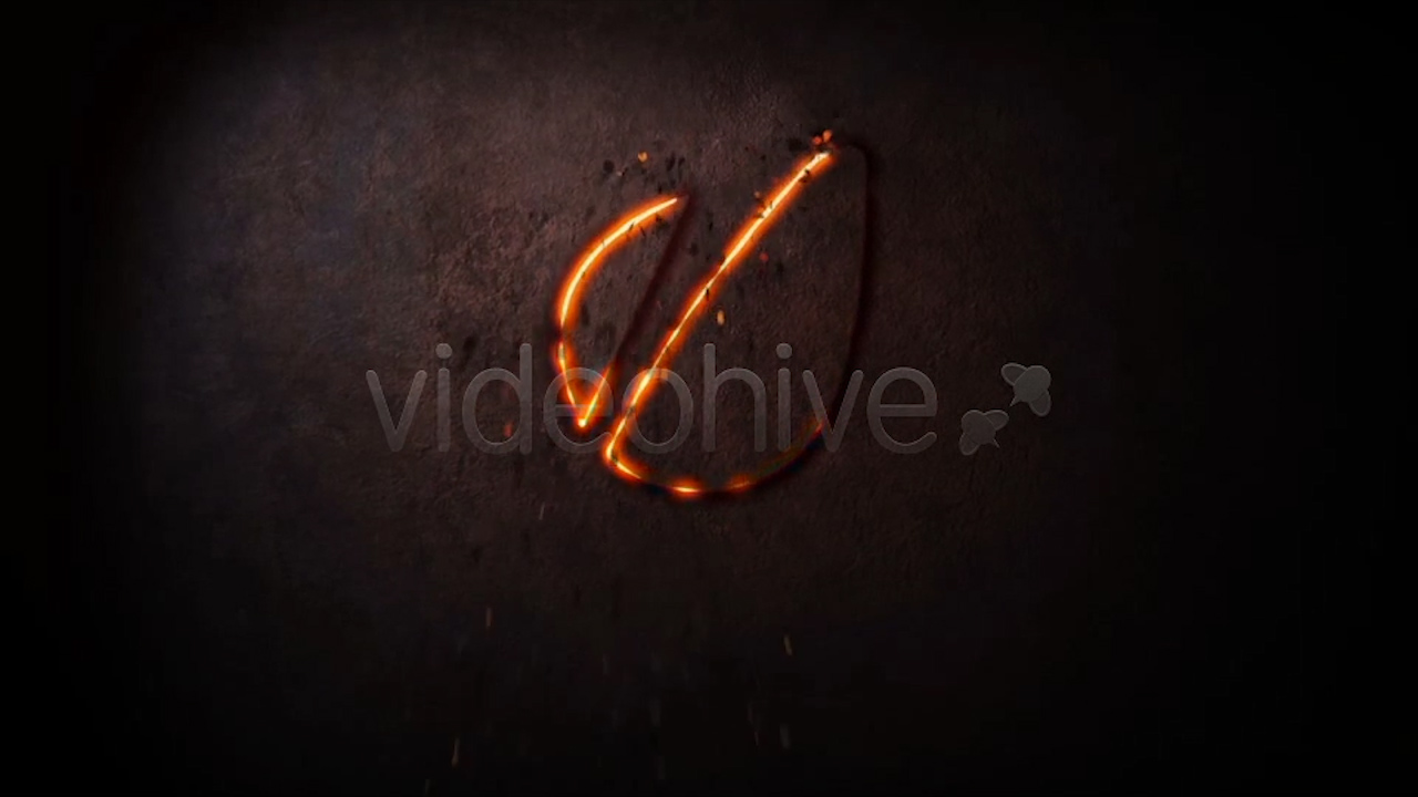 laser cut logo reveal in FULLHD resolution