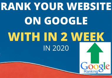 Rank your site TOP in Google in 2 Weeks