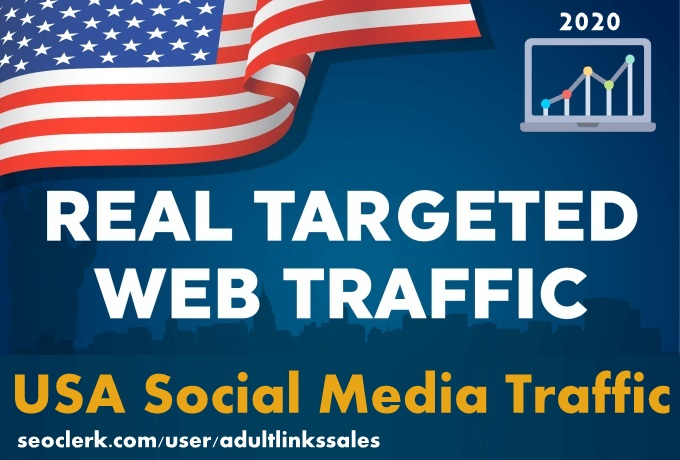 Send 5k-300k USA social media traffic with adsense safe