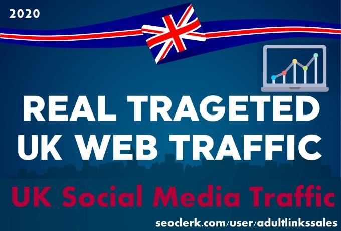 Send 5k-300k UK social media traffic with adsense safe