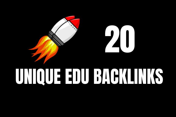Do 20 Unique EDU Backlinks For SEO
