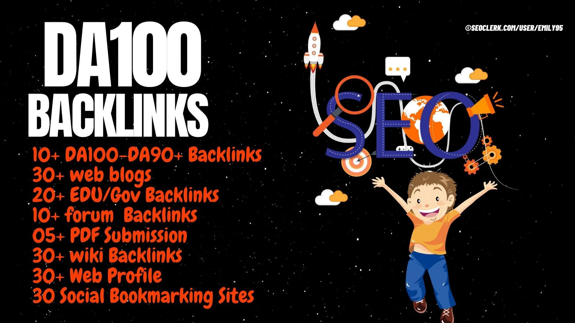 DA100 Backlinks 165+ Backlinks from Edu,  Web,  pdf,  Edu,  Gov and Wiki site- High DA PA TF CF sites