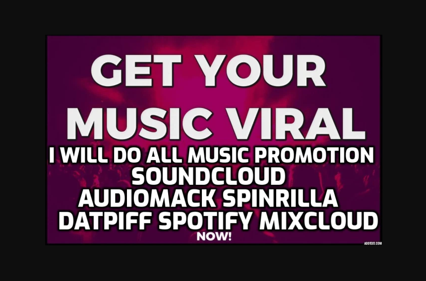 Get all Real music promotion Here